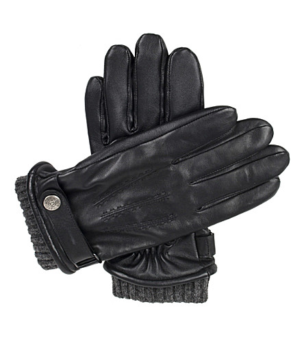 DENTS Henley touchscreen leather gloves (Black