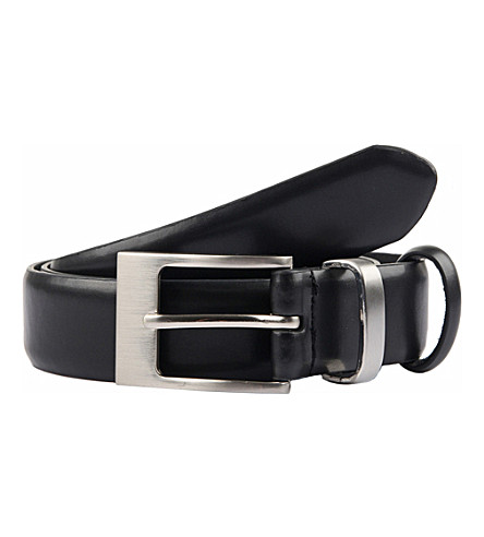 DENTS Classic leather belt (Black