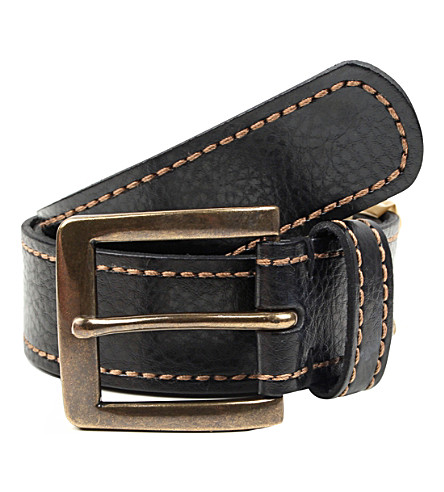 DENTS Casual leather belt (Black