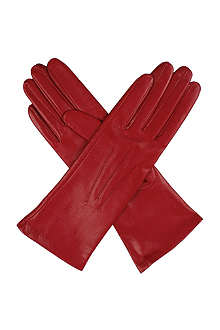 DENTS English silk-lined leather gloves