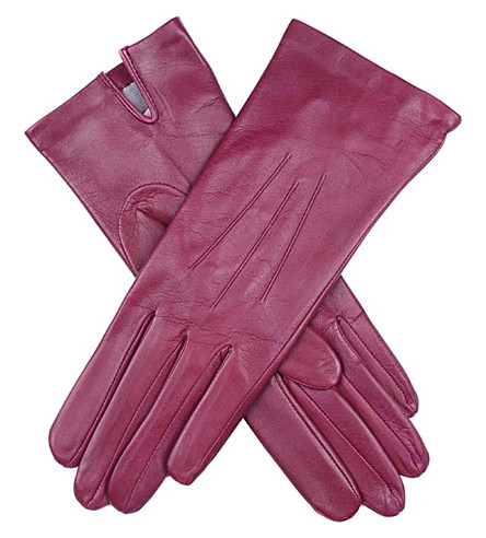 DENTS Classic silk-lined leather gloves (Juniper