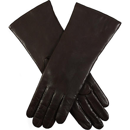 DENTS Classic cashmere-lined leather gloves (Mocca