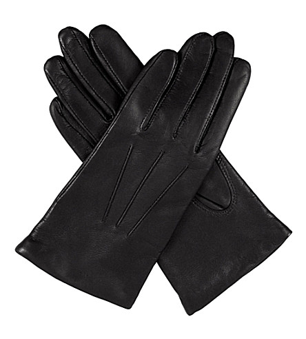 DENTS Classic leather gloves (Black