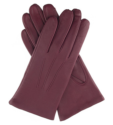 DENTS Classic leather gloves (Juniper