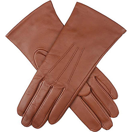 DENTS Classic cashmere-lined leather gloves (Cognac