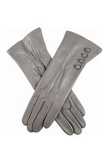 DENTS Buttoned leather gloves