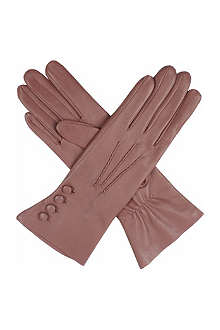 DENTS Silk-lined leather gloves