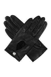 DENTS Keyhole leather driving gloves
