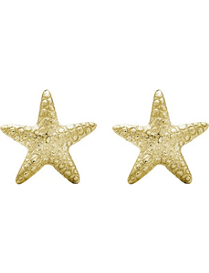 THEO FENNELL Yellow gold starfish stud earrings