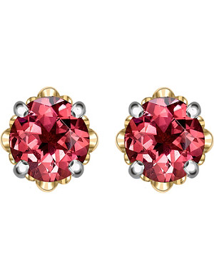 THEO FENNELL Gold and tourmaline bud stud earrings