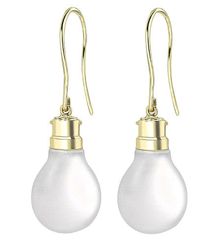 THEO FENNELL 18ct gold Halogen Light Bulb earrings