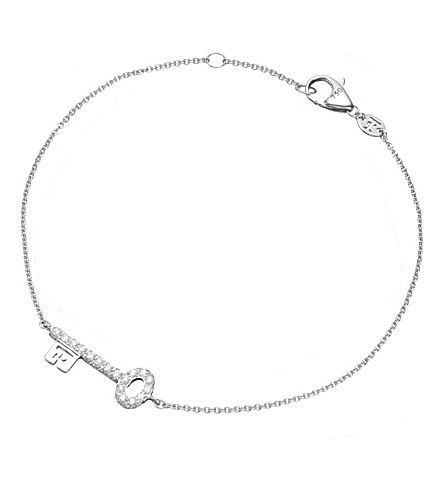 THEO FENNELL 18ct white-gold baby key spangle bracelet