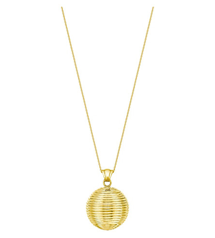 THEO FENNELL Whip Ball 18ct yellow-gold pendant necklace