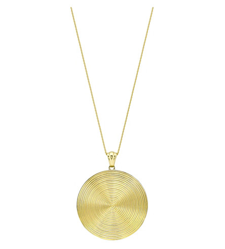 THEO FENNELL 18ct yellow-gold Whip Disc Pendant necklace