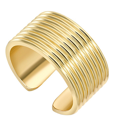 THEO FENNELL Yellow gold whip torque ring