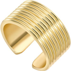 Yellow gold whip torque ring