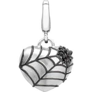Alias spider web sterling silver charm