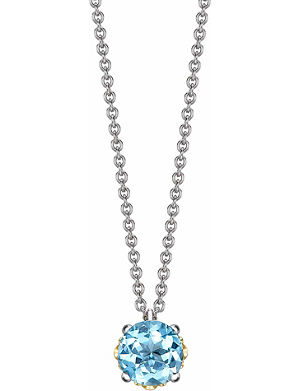 THEO FENNELL 18ct white and rose-gold, topaz and diamond pendant