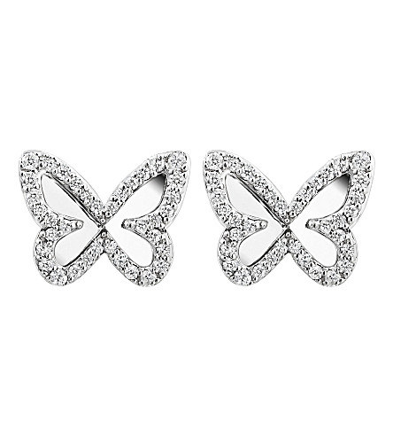 MESSIKA 18ct white gold and diamond mirrored back butterfly