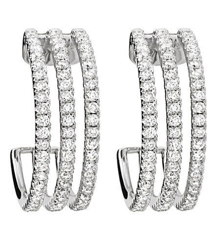 MESSIKA Gatsby 18ct white-gold and diamond hoop earrings