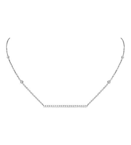 MESSIKA Gatsby 18ct white-gold and diamond horizontal bar necklace