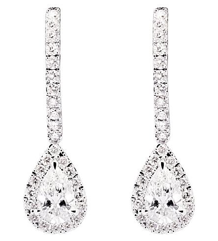 MESSIKA Joy 18ct white-gold pear drop diamond earrings