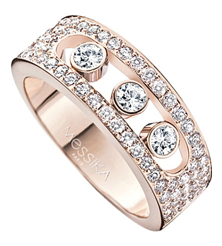 MESSIKA Move Joaillerie 18ct rose-gold and diamond ring