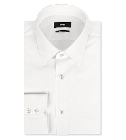 HUGO BOSS Enzo regular-fit single-cuff shirt (White