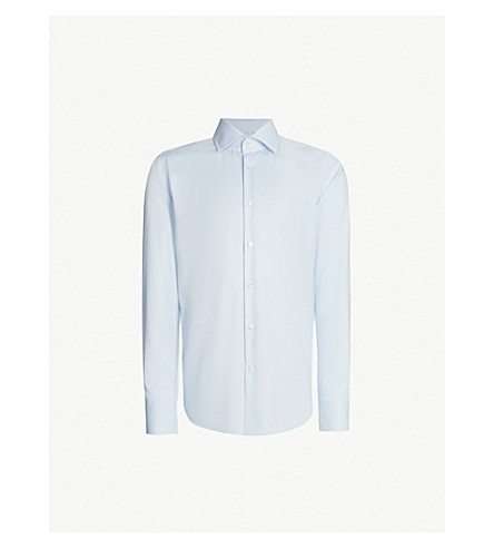 BOSS Regular-fit cotton-twill shirt (Light/pastel+blue