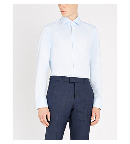 BOSS Regular-fit cotton shirt (Light/pastel+blue