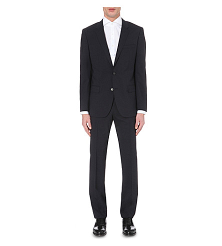 BOSS BLACK FORMAL Slim-fit stretch-wool suit (Navy