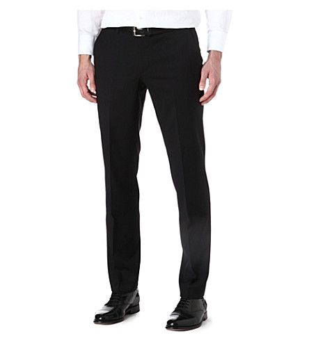 BOSS Slim-fit wool trousers (Black
