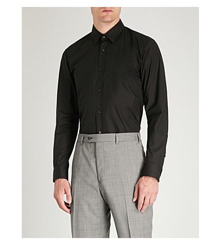 HUGO Extra slim-fit stretch-cotton shirt Black Cheap Sale Websites Limited Edition Cheap Price dTU4S7