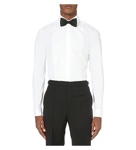 HUGO BOSS Slim-fit cotton shirt (White