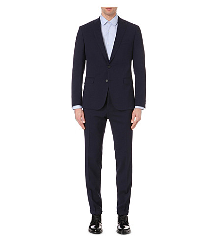 BOSS Regular-fit wool suit (Navy