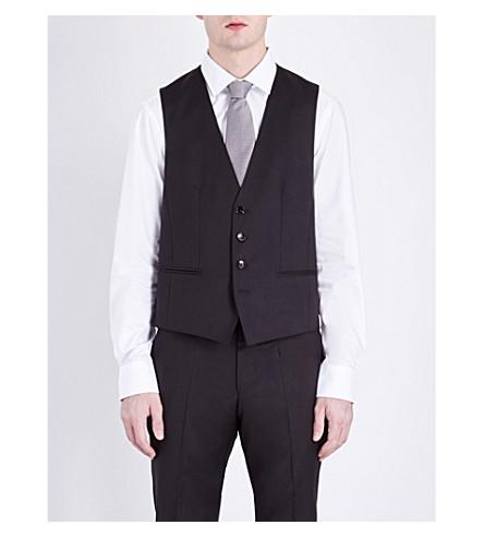 BOSS Wilson wool waistcoat (Black