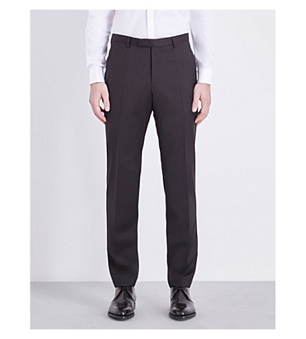 BOSS Lenon wool trousers (Black