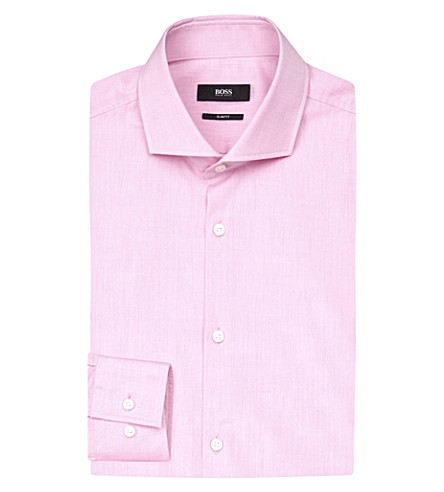 BOSS Slim-fit cotton-blend shirt (Light/pastel+pink