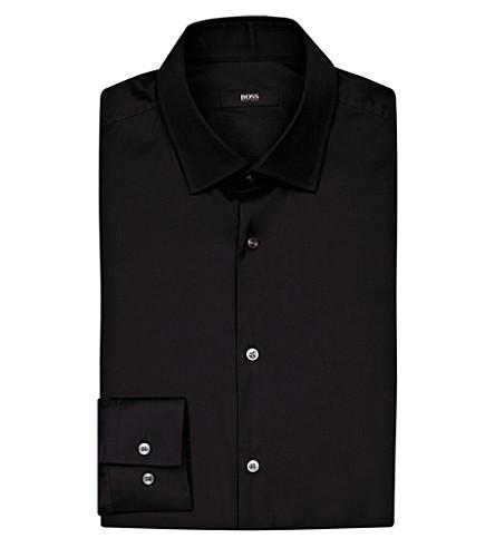 BOSS Regular-fit cotton shirt (Black