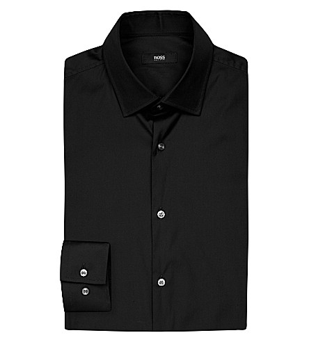 BOSS Slim-fit cotton shirt (Black