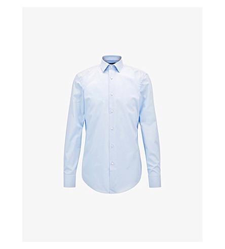 Light Slim pastel BOSS shirt BOSS blue fit Slim cotton xvBnaUwYq