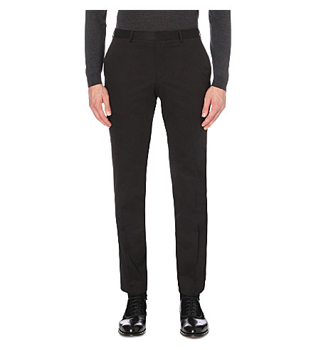 BOSS Regular-fit stretch-cotton trousers (Black