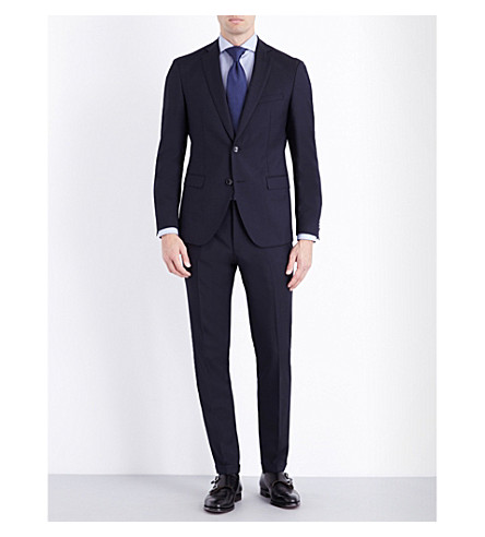 BOSS BLACK FORMAL Extra-slim fit wool suit (Navy