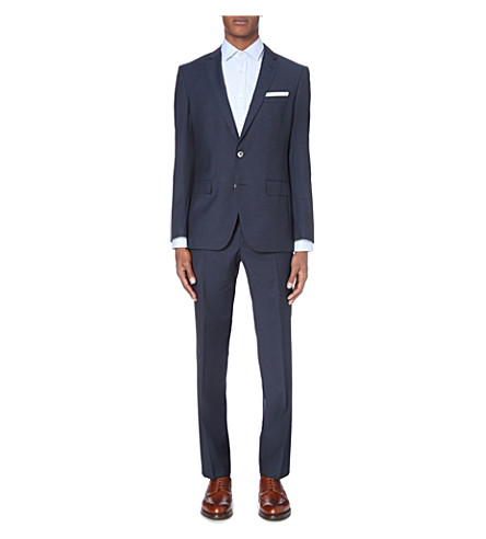 BOSS 120's slim-fit wool suit (Medium+blue