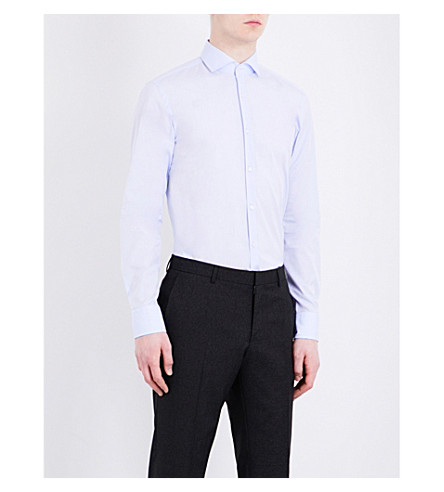 BOSS Slim-fit pure-cotton shirt (Light/pastel+blue