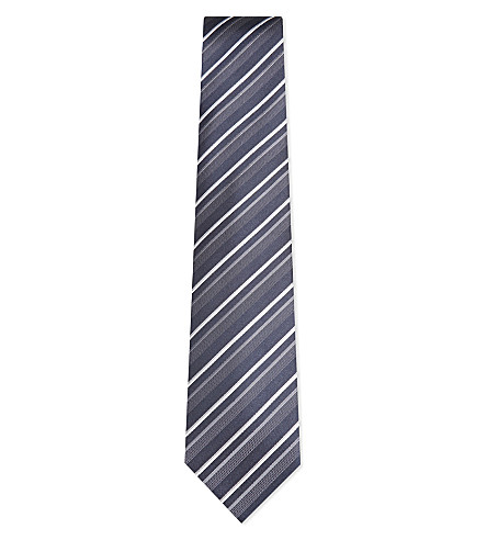 BOSS Diagonal stripe silk tie (Navy