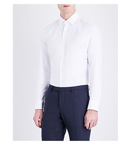 BOSS Slim-fit cotton shirt (White