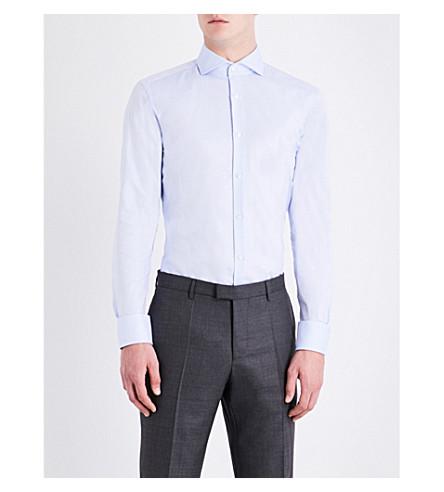 BOSS Slim-fit cotton shirt (Light/pastel+blue