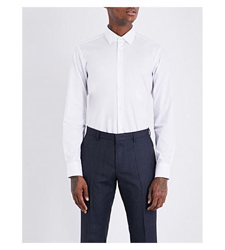 BOSS 常规版型棉衬衫 (白色
