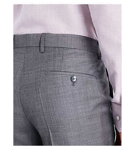 BOSS Tailored-fit three-piece wool suit (Medium+grey